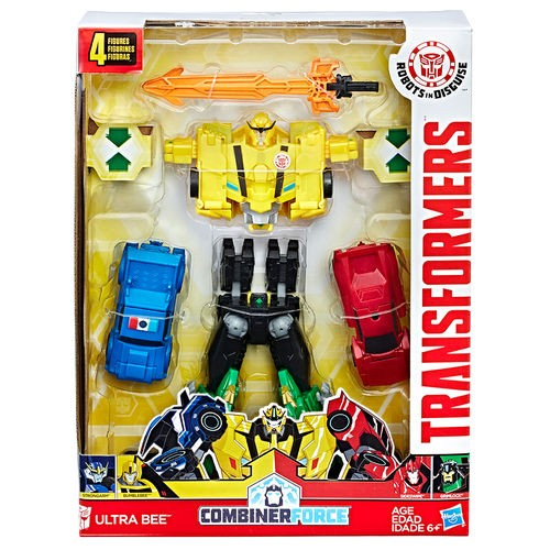 Transformers CombinerForce Luxo Indisguise Ultra Bee  – 4 Robos  - Hasbro  - Doce Diversão