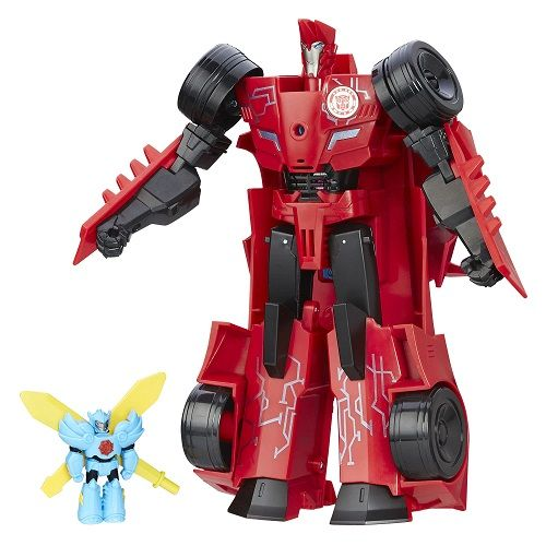 Transformers Indisguise Power Surge Sideswipe + MInicon C/Som - Hasbro  - Doce Diversão