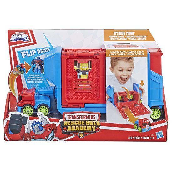 Transformers Playskool Rescue Bots Optimus Prime Carreta Lançadora  Hasbro  - Doce Diversão