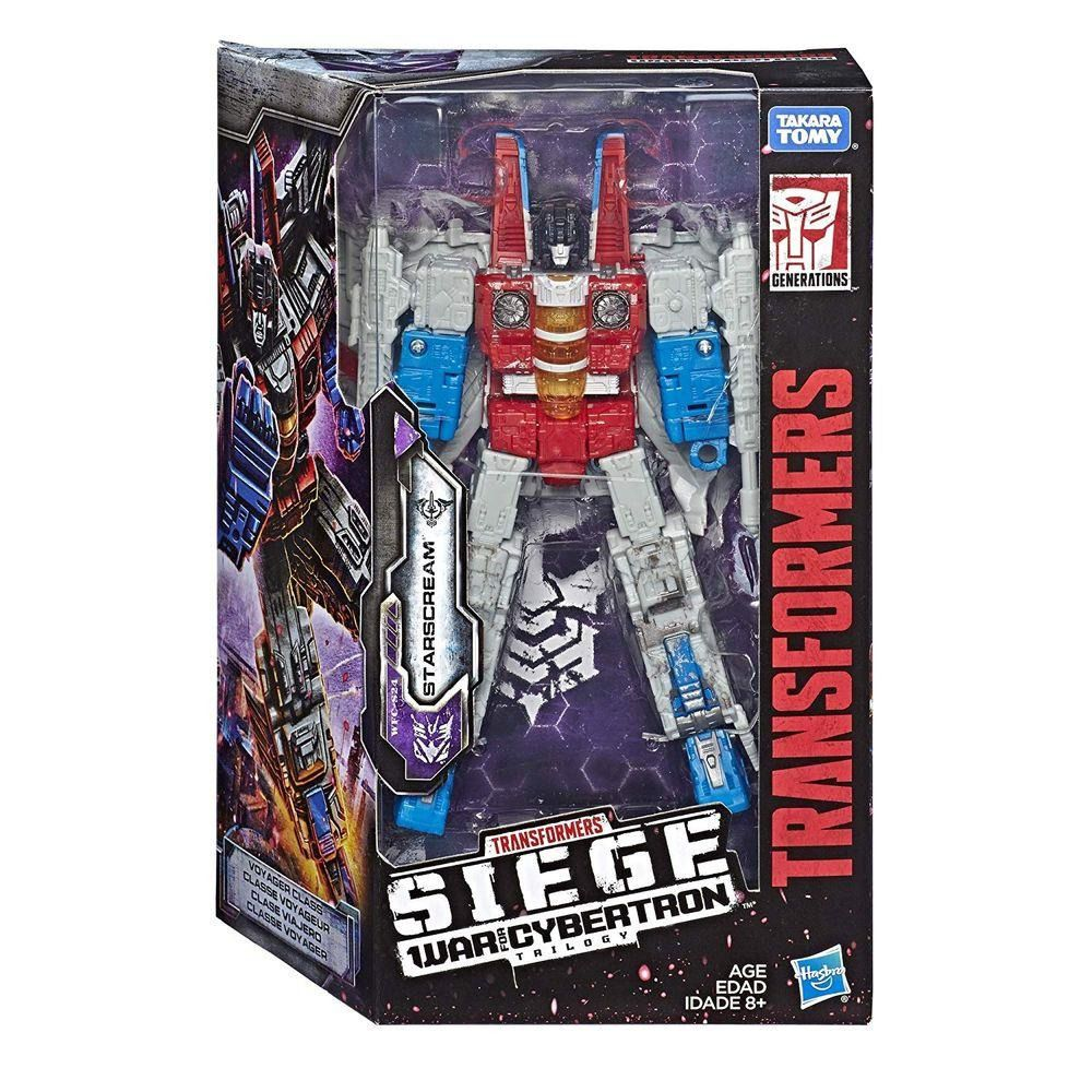 Transformers Voyager Siege War for Cybertron Trilogy WFC-S24 Starscream 17 cm – Hasbro  - Doce Diversão
