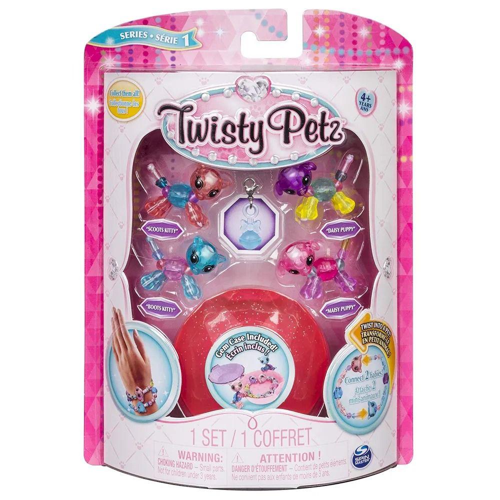 Twisty Petz – Gêmeos C/4 – Gatinhos e Cachorrinhos - Série 1 – Sunny  - Doce Diversão