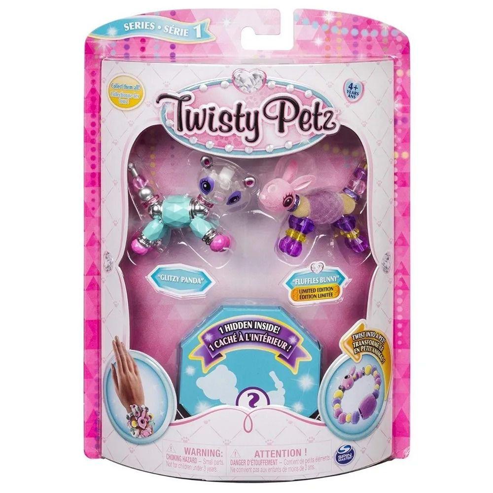 Twisty Petz – Surpresa Rara C/3 - Glitzy Panda E Fluffles  Coelho - Série 1 – Sunny  - Doce Diversão