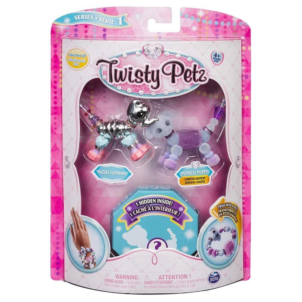 Twisty Petz – Surpresa Rara C/3 - Razzle Elefante E Pupsicle Cachorro - Série 1 – Sunny  - Doce Diversão