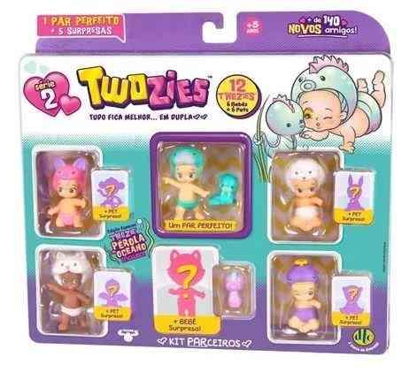 Twozies Serie 2 Blister C/ 12 Towzies Surpresas 6 Bebes + 6 Pets Dtc  - Doce Diversão