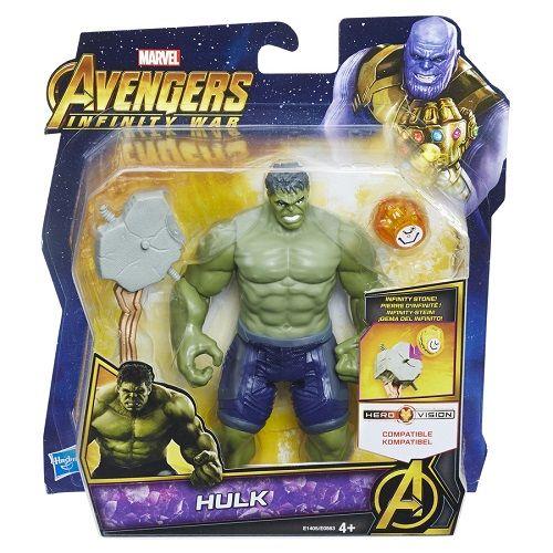 Vingadores Guerra Infinito Hulk Deluxe 15 cm C/joia Hasbro  - Doce Diversão
