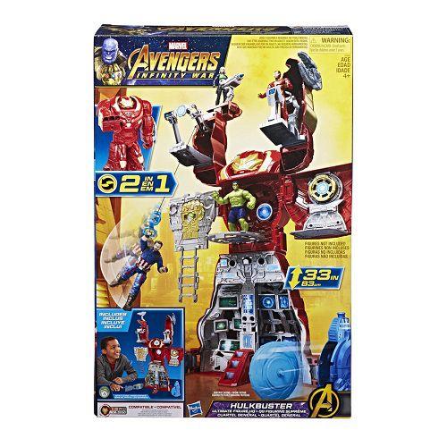 Vingadores Hulkbuster Quartel General 83cm - 2 em 1- Hasbro  - Doce Diversão
