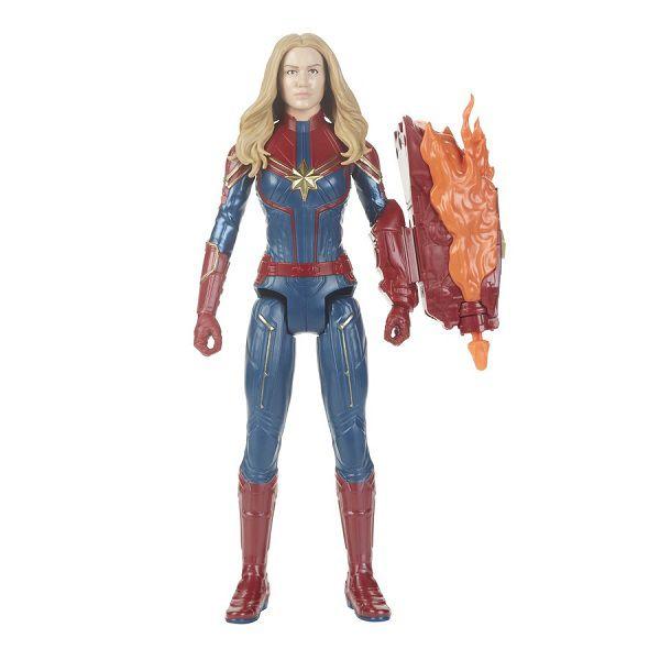 Vingadores Ultimato Capitã Marvel FX  30 cm Com Som Português E Lança Dardo Hasbro  - Doce Diversão