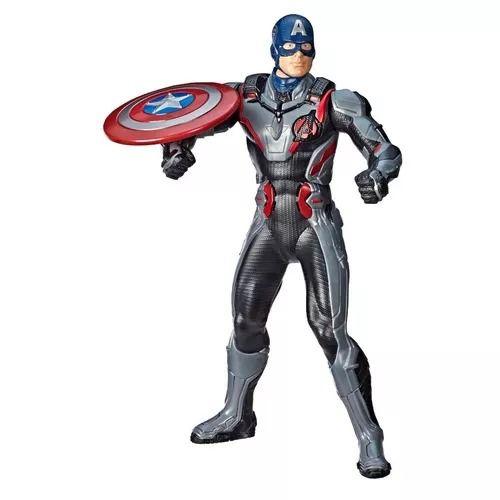 Vingadores Ultimato Capitão América Deluxe 33 cm C/ Som e lança Escudo Hasbro  - Doce Diversão