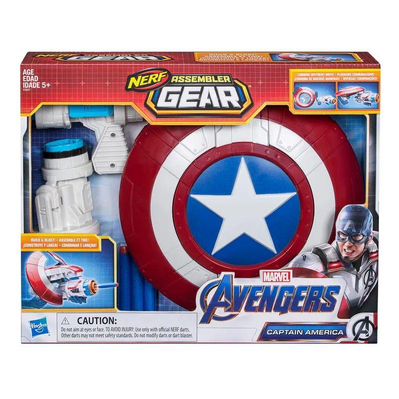Vingadores Ultimato Capitão América Escudo Lançador Nerf   Hasbro  - Doce Diversão