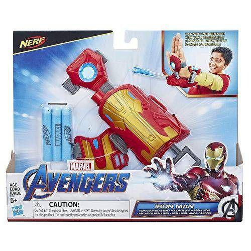 Vingadores Ultimato Iron Man – Homem Ferro Repulsor Mão Lançador Nerf   Hasbro  - Doce Diversão