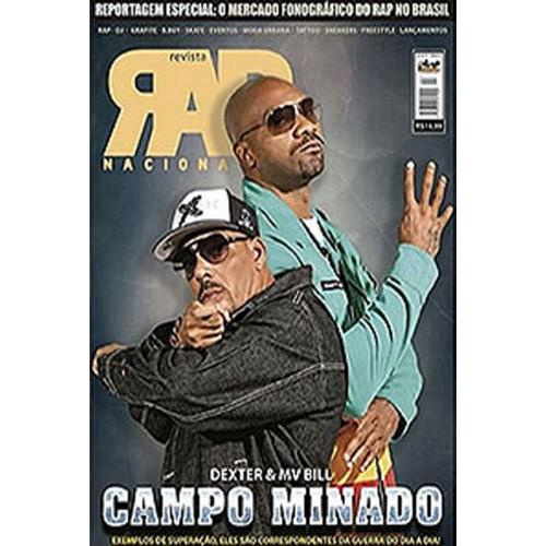 Rap Nacional #9. Capa: Dexter e MV Bill  - LiteraRUA