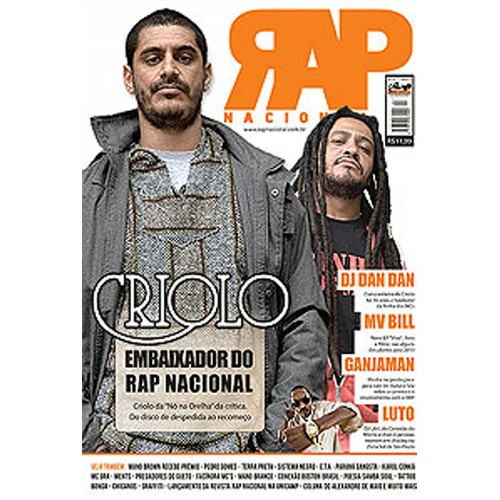Rap Nacional #7 - Capa: Criolo.  - LiteraRUA