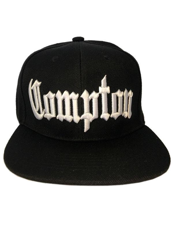 Boné Compton - Preto  - LiteraRUA