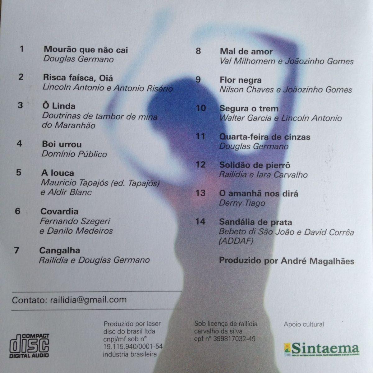 CD Railídia: Cangalha  - LiteraRUA