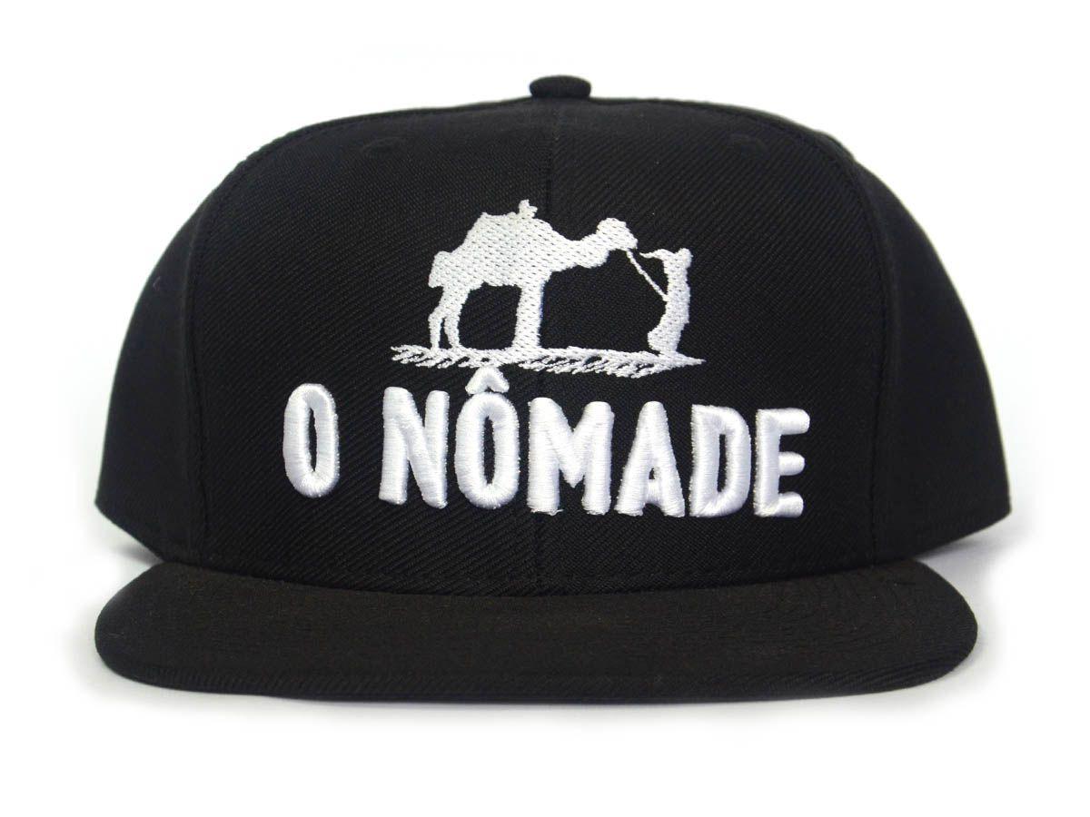 Boné O Nômade - Gaspar Z´África Brasil - Preto SnapBack (Regulável)