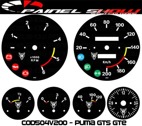 Kit Translúcido p/ Painel - Cod504v200 - Puma GTS GTE  - PAINEL SHOW TUNING - Personalização de Painéis de Carros e Motos