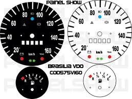 Kit Translúcido p/ Painel - Cod575v160 - Brasilia até 160km/h  - Loja - Painel Show Tuning