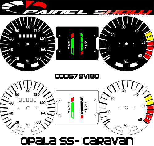Kit Translúcido p/ Painel - Cod579v180 - Opala SS 180km/h  - PAINEL SHOW TUNING - Personalização de Painéis de Carros e Motos