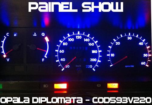 Kit Translúcido p/ Painel - Cod593v220 - Opala Caravan 1987 Ed  - Loja - Painel Show Tuning