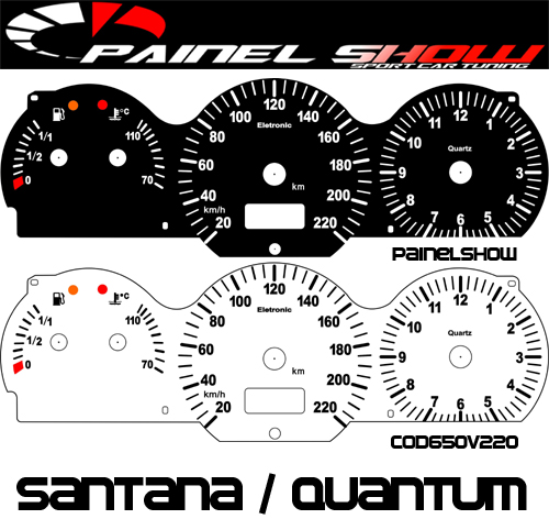 Kit Translúcido p/ Painel - Cod650v220 - Santana 98 ed 2000  - PAINEL SHOW TUNING - Personalização de Painéis de Carros e Motos