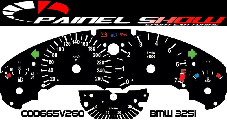 Kit Translúcido p/ Painel - Cod665v260 - BMW 325i  - PAINEL SHOW TUNING - Personalização de Painéis de Carros e Motos