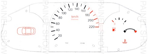 Kit Neon p/ painel - Cod82v220 - Escort / Fiesta / Courier  - PAINEL SHOW TUNING - Personalização de Painéis de Carros e Motos