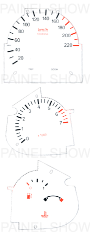 Kit Neon p/ Painel - Cod83v220 - Escort / Fiesta / Courier  - PS TUNING