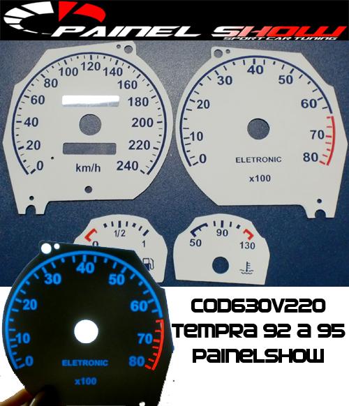 Kit Translúcido p/ Painel - Cod630v220 - Tempra 92 a 95  - PAINEL SHOW TUNING - Personalização de Painéis de Carros e Motos