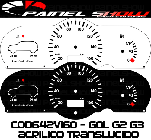 Kit Translucido p/ Painel - Cod642v160 - Gol Bola G2 G3 Special City  - Loja - Painel Show Tuning