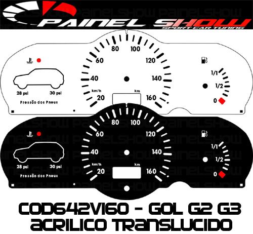 Kit Translucido p/ Painel - Cod642v160 - Gol Bola G2 G3 Special City  - PAINEL SHOW TUNING - Personalização de Painéis de Carros e Motos
