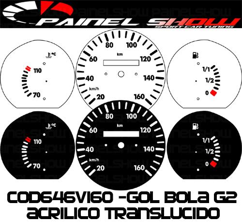 Kit Translúcido p/ Painel - Cod646v160 - Gol Bola 95 ou 96  - PAINEL SHOW TUNING - Personalização de Painéis de Carros e Motos