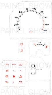 Kit Neon p/ Painel - Cod89v180 - Uno / Fiorino / Elba / Premio  - PAINEL SHOW TUNING - Personalização de Painéis de Carros e Motos