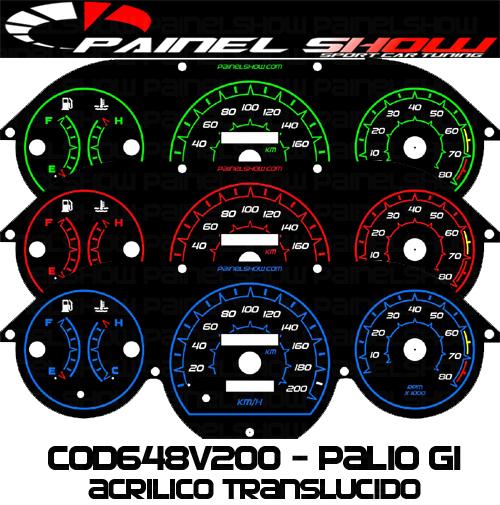 Kit Translúcido p/ Painel - Cod648v200 - Palio Antigo com Contagiros  - PAINEL SHOW TUNING - Personalização de Painéis de Carros e Motos