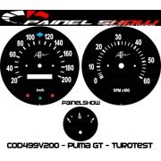 Kit Translúcido p/ Painel - Cod499v200 - Puma GT Turotest
