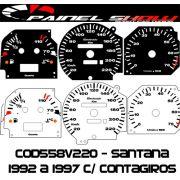 Kit Translúcido p/ Painel - Cod558v220 - Santana 93 a 97 c/ Contagiros
