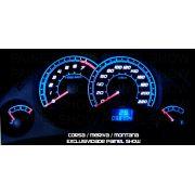 Corsa Meriva Montana Cod639v220  Mostrador Tuning Acetato Translucido p/ Personalização de Painel - Show !
