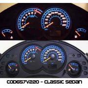 Corsa Classic Sedan 2008 Ed Cod657v220 Mostrador Tuning Acetato Translucido p/ Personalização de Painel - Show !