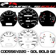 Kit Translúcido p/ Painel - Cod559v220 - Gol Bola G2 95 a 97 Contagiros