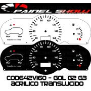 Kit Translucido p/ Painel - Cod642v160 - Gol Bola G2 G3 Special City