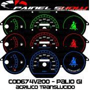 Kit Translúcido p/ Painel - Cod674v200 - Palio Siena Strada Antigo G1