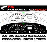 Kit Translucido p/ Painel - Cod634v240 - Brava Marea 240km/h com Check-Control