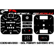 Kit Translúcido p/ Painel - Cod546v200 - Gol Parati Santana com Parcial