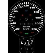 Kit Translúcido p/ Painel - Cod569v220 - Fusca Turbo 220km