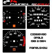 Kit Translúcido p/ Painel - Cod618v180 - Opala 1981 a 1984