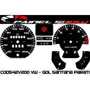 Kit Translúcido p/ Painel - Cod542v200 VW - Gol Parati Santana Passat