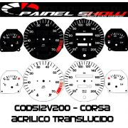 Kit Translúcido p/ Painel - Cod512v200 - Corsa com Contagiros