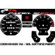 Kit Translucido p/ Painel - Cod543v220 VW - Gol Parati Santana Passat