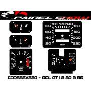 Kit Translucido p/ Painel - Cod566v220 - Gol GT 1.8 até 1987