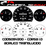 Kit Translúcido p/ Painel  - Cod509v200 - Corsa sem Contagiros