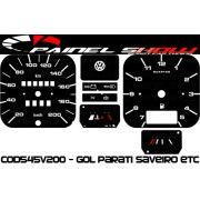 Kit Translúcido p/ Painel - Cod545v200 - Gol GL com Relógio Quadrado